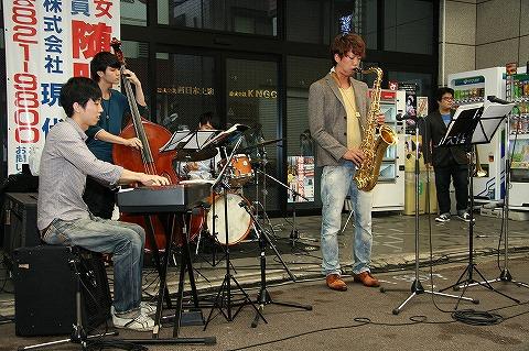 三条会商店街50周年イベント ジャズバンド