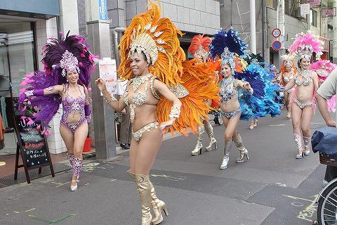 三条会商店街50周年イベント サンバパレード2