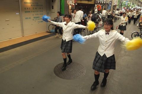 京都 薬物乱用防止キャンペーン 両洋高校ブラスバンド