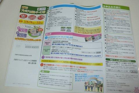 京都市プレミアム商品・サービス券 申込用紙